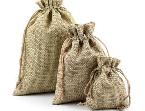 Jute & Cotton Pouch Bags